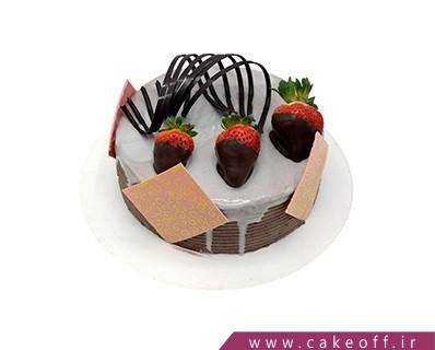 کیک تولد ساده چکه خاکستری | کیک آف