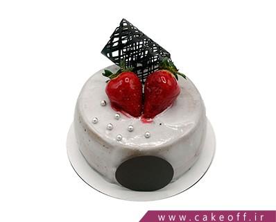 کیک تولد - کیک وانیلی نقره فام | کیک آف