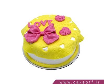 کیک ساده تولد قلب کوچک من | کیک آف