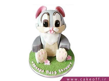 کیک تولد بچه گانه - کیک خرگوش 10 | کیک آف