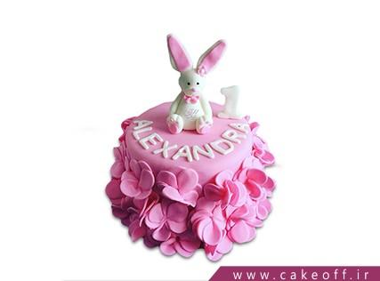 کیک تولد بچه گانه - کیک خرگوش 12 | کیک آف