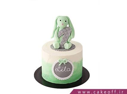 کیک تولد بچه گانه - کیک خرگوش 21 | کیک آف