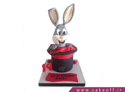 کیک تولد بچه گانه - کیک خرگوش 22 | کیک آف