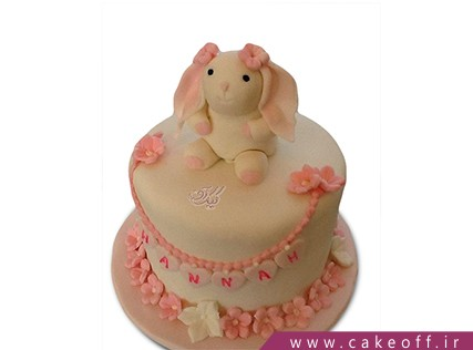 کیک تولد بچگانه - کیک خرگوش 26 | کیک آف