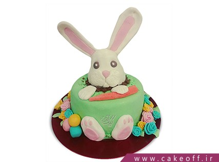 کیک تولد بچگانه - کیک خرگوش 32 | کیک آف