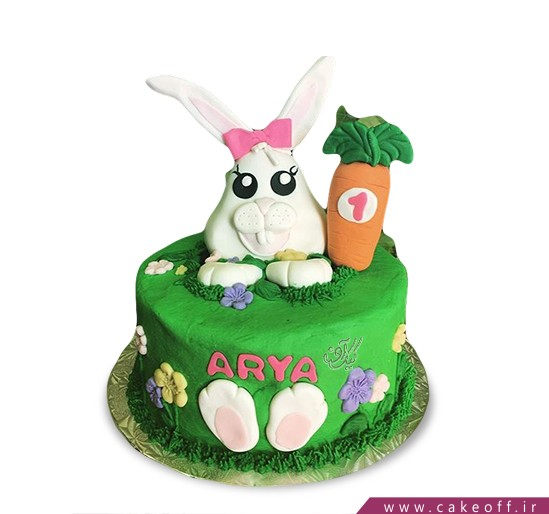 کیک تولد بچه گانه - کیک خرگوش 20 | کیک آف