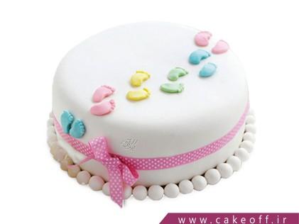 کیک فوندانت - کیک تولد نوزاد گام نو | کیک آف