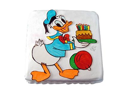 سفارش کیک تولد بچگانه - کیک کارتونی دونالد داک 1 | کیک آف