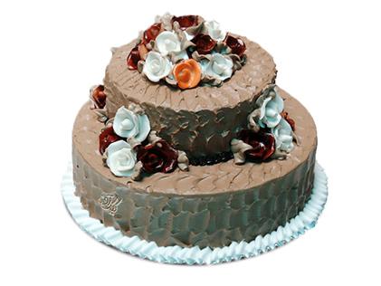 خرید کیک اینترنتی در اصفهان - کیک گل رز | کیک آف