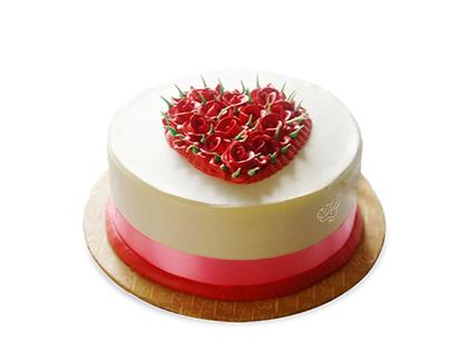 سفارش اینترنتی کیک  - کیک عاشقانه در قلب من | کیک آف