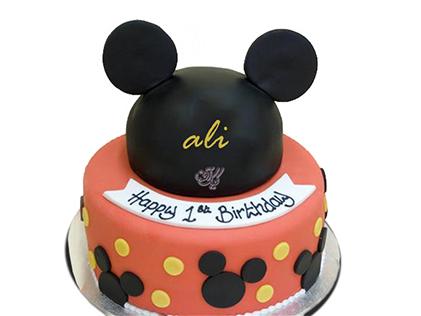 انواع کیک تولد - کیک تولد میکی موس مشکی | کیک آف