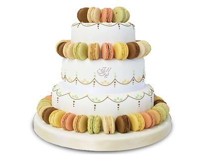 سفارش کیک عقد و عروسی - کیک عروسی رنگین ماکارون | کیک آف