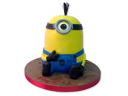 خرید کیک مینیون - کیک مینیون خسته | کیک آف