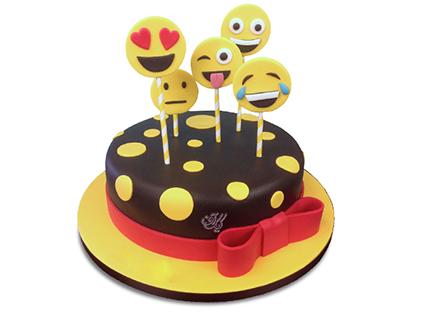 خرید اینترنتی کیک - کیک تولد اموجی ها | کیک آف