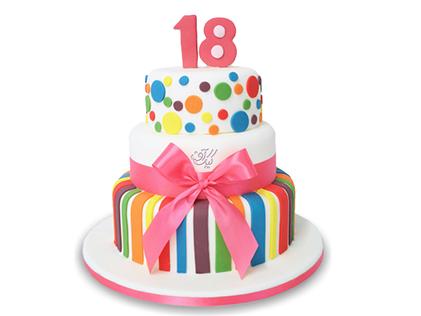 کیک تولد رنگینک | کیک آف