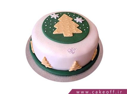 کیک کریسمس - کیک سروی در میان برف | کیک آف