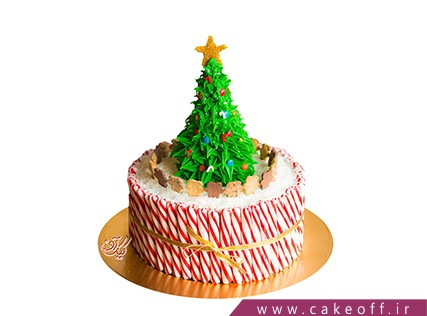 کیک کریسمس - کیک درخت کریسمس | کیک آف