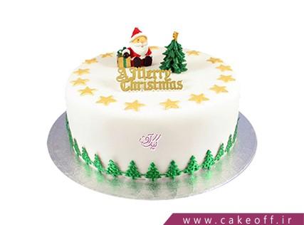 کیک کریسمس - کیک بابانوئل پیر مهربون | کیک آف