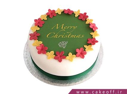 کیک جشن کریسمس - کیک فوندانتی رنگارنگ | کیک آف