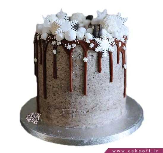 کیک تولد چکه ای - کیک گلوله های کریسمس | کیک آف