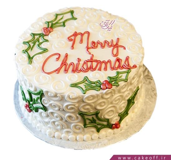 کیک جشن کریسمس - کیک طره های برفی | کیک آف