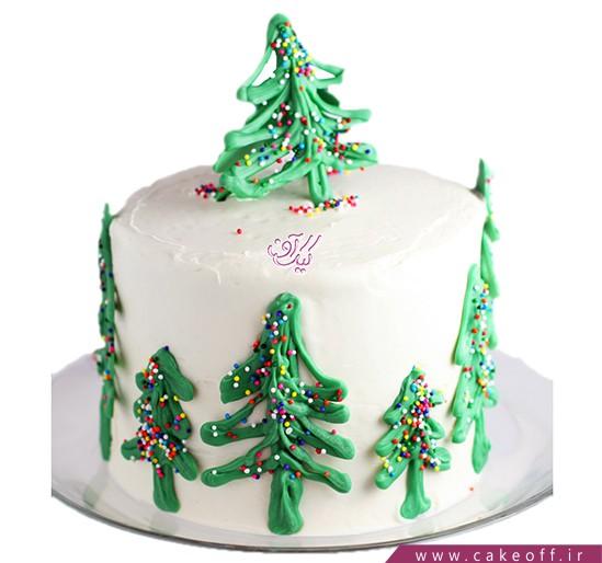 کیک جشن سال نو - کیک نقاشی زمستان | کیک آف