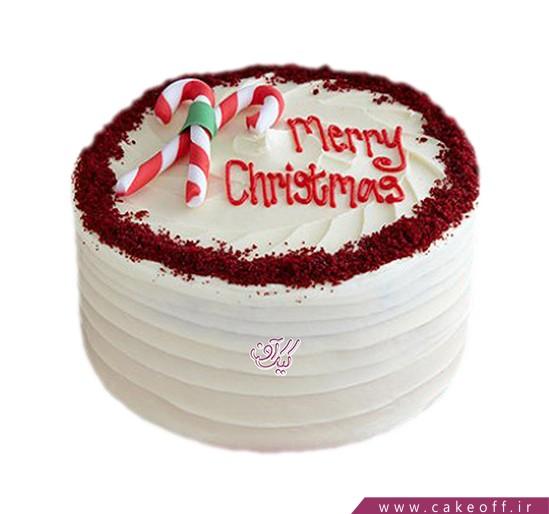 کیک کریسمس مخمل پوش