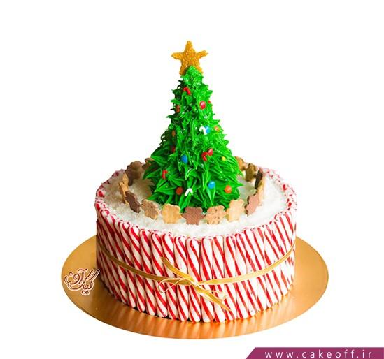 کیک درخت کریسمس