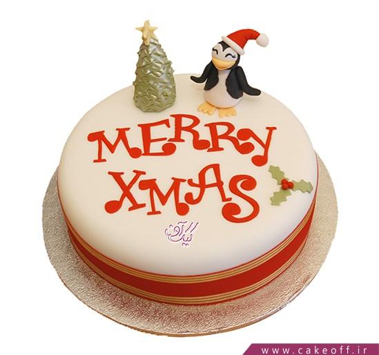 کیک مری کریسمس - کیک پنگوئن برفی | کیک آف