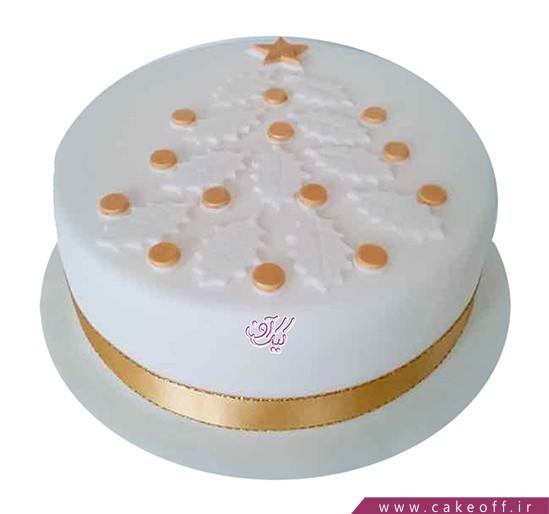 کیک کریسمس - کیک سرو طلایی | کیک آف