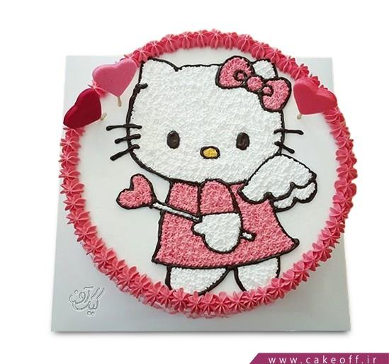 سفارش کیک بچه گانه - کیک کیتی عاشق | کیک آف