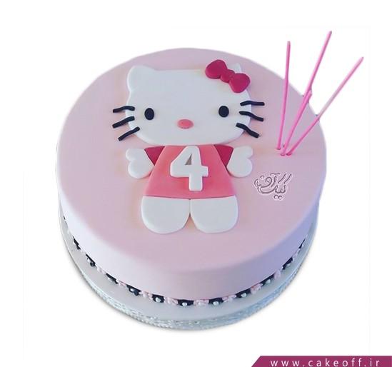 کیک تولد کیتی چهار ساله