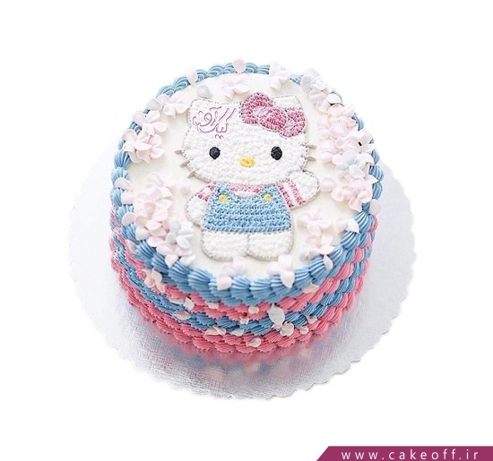 کیک کیتی و شکوفه ها