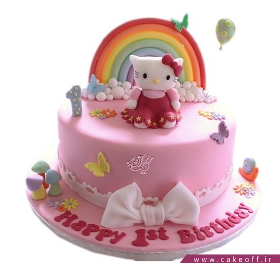 کیک تولد کیتی و رنگین کمان