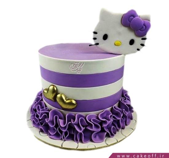 کیک دخترانه کیتی بنفش | کیک آف