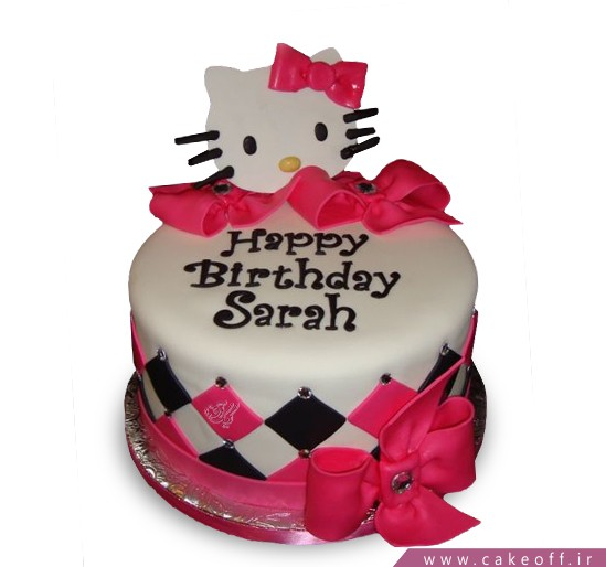 کیک تولد بچه گانه - کیک تولد هلو کیتی | کیک آف