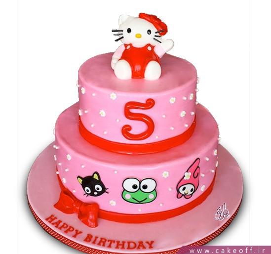 کیک تولد کیتی و دوستان