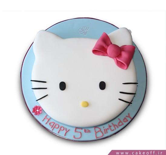 کیک کیتی پاپیون صورتی