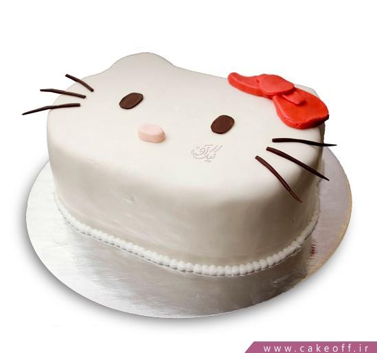 کیک کیتی پاپیون قرمز