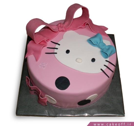 کیک کیتی پاپیون آبی