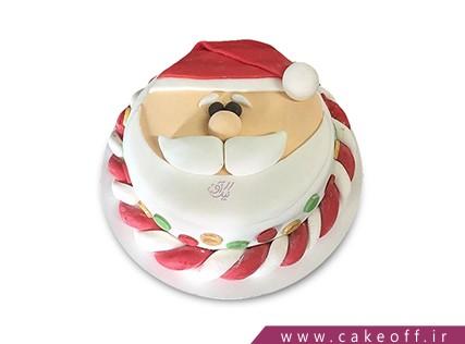 کیک کریسمس - کیک فوندانتی بابانوئل مهربان | کیک آف