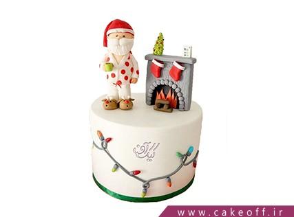 کیک کریسمس - کیک شب بخیر بابانوئل | کیک آف