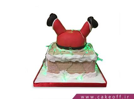 کیک کریسمس - کیک بابانوئل وارونه | کیک آف