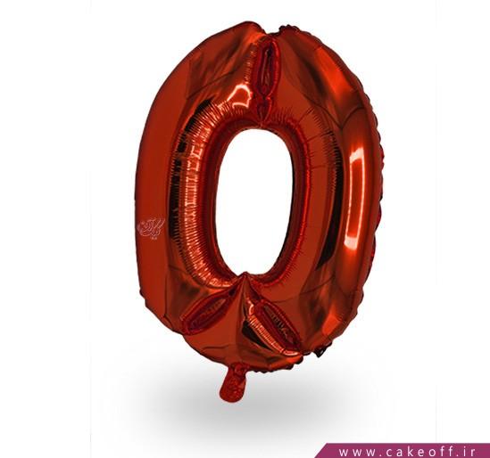 فروشگاه آنلاین لوازم تولد - بادکنک فویلی عدد صفر قرمز | کیک آف