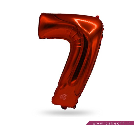 خرید لوازم تولد - بادکنک فویلی عدد هفت قرمز | کیک آف