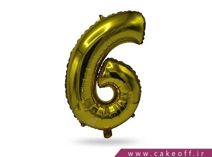 بادکنک عدد تولد | شش طلایی