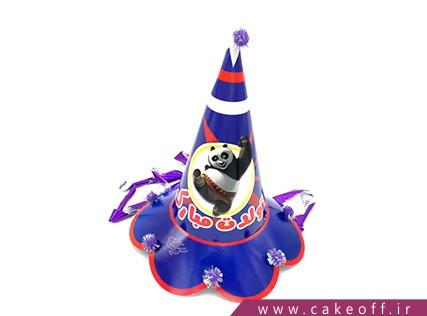 کلاه تولد کودک - کلاه تولد پاندا طرح دنباله دار | کیک آف