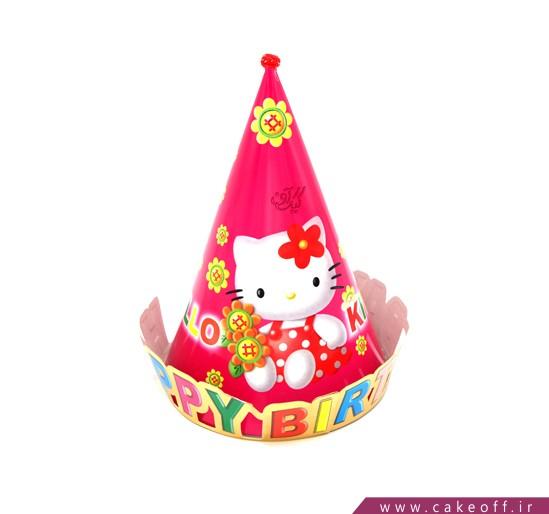 کلاه تولد دخترانه - کلاه کیتی طرح لبه دار | کیکآف