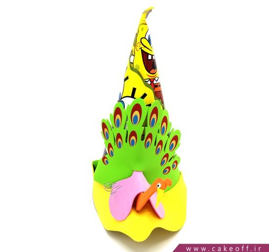وسایل تولد باب اسفنجی - باب اسفنجی و طاووس | کیک آف