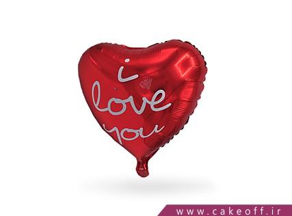 بادکنک قلبی | love you قرمز